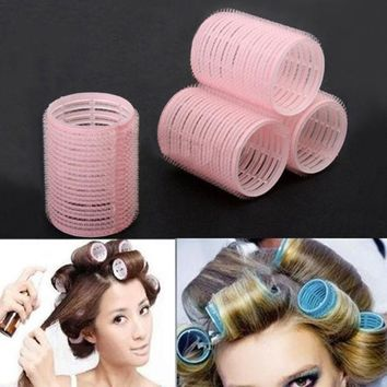 ICIK272 Portable 6pcs/set Grip Cling Hair Styling Roller Curler Hairdressing DIY Tool 7 Sizes 5GVU