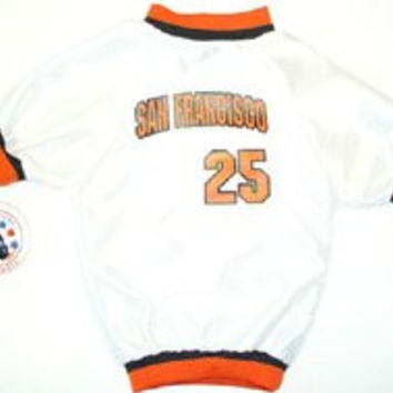 Sports Enthusiast San Francisco #25 Baseball Mesh Dog Jersey (Small)