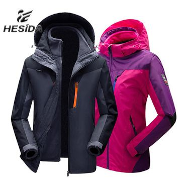 Winter Jacket Women Outdoor Hiking 3 in 1 Men Fleece Coat Couples Sport Hunting Clothes Waterproof Heated Windbreaker Camping