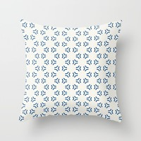 Acrylic Blue Pattern Circles Throw Pillow by Doucette Designs