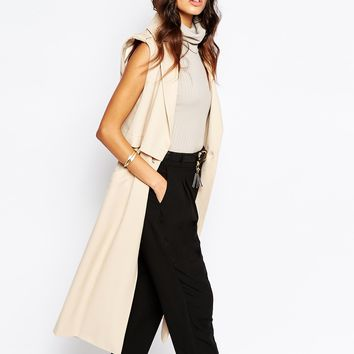 River Island Sleeveless Trench Coat