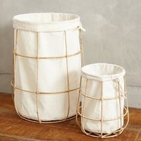 Framed Canvas Bins by Anthropologie White Set Of 2 Office