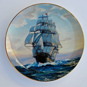 Golden Age of the Clipper Ships Collector Plate by W S George - 1989  Young America, Homeward Bound - (100.84)