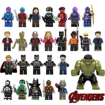 Deadpool Dead pool Taco Legoing Super Heroes Action Figure Hulk Thor Scarlet Witch  Bruce Banner Star Lord Nebula Nightwing  Building Blocks AT_70_6
