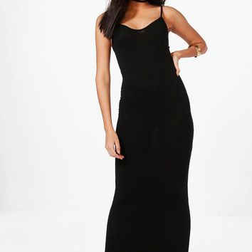 Hedda Basic Strappy Maxi Dress | Boohoo