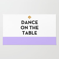 Dance on the Table - Kate Spade Inspired Rug by Rachel Additon | Society6