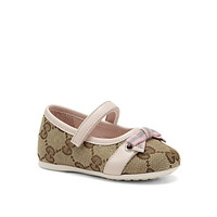 Infant's & Toddler's GG Canvas Mary Jane Flats