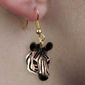 ZEBRA EARRINGS HANGING
