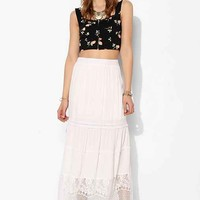 Staring At Stars Crochet Tiered Maxi Skirt-