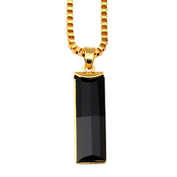 Stylish Gift Shiny New Arrival Jewelry Gemstone Simple Design Hip-hop Pendant Accessory Necklace [10529028547]