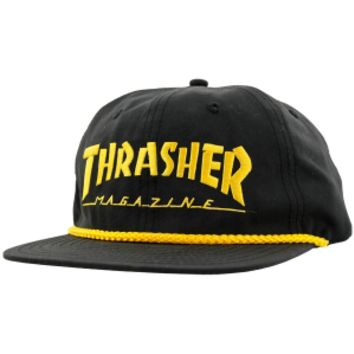 Thrasher Magazine Thrasher Rope Snapback Hat - Black