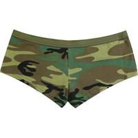 Woodland Camouflage - Womens Army Booty Shorts - Army Navy Store