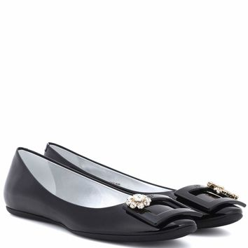 Gommette Jewels patent leather ballerinas