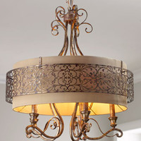 John-Richard Collection - Etched Gold Chandelier - Horchow
