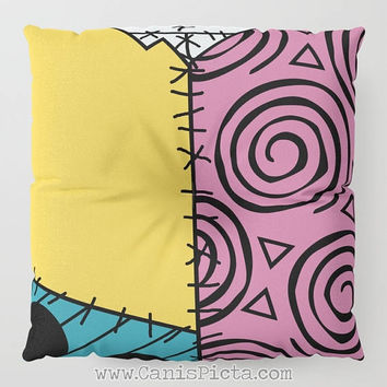 Nightmare Before Christmas Sally Dress Floor Pillow Round Square Cushion Decorative Graphic Print Home Decor Fan Cute Pouf NMBC Skellington