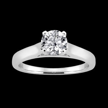 1 carat diamond solitaire engagement ring white gold wedding jewelry