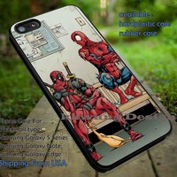 Funny Spiderman Deadpool iPhone 6s 6 6s+ 5c 5s Cases Samsung Galaxy s5 s6 Edge+ NOTE 5 4 3 #cartoon #spiderman #deadpool #superheroes DOP724