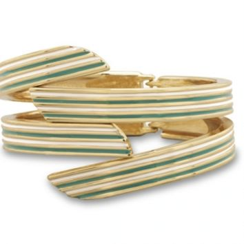 Layered Enamel Bangle Bracelet