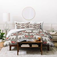 Holli Zollinger Elephant And Umbrella Duvet Cover