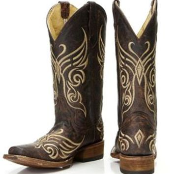 Corral Women's Circle G Brown & Bone Embroidered Cowgirl Boots