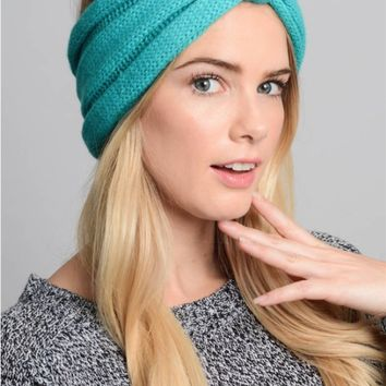 Bow turban crochet headband - 3 Colors!