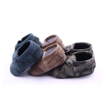 New Solid Camo Leopard Style Infant Toddler Boys Girls Kids First Walkers Shoes Newborn Baby Moccasins Soft Moccs Shoes Zapatos