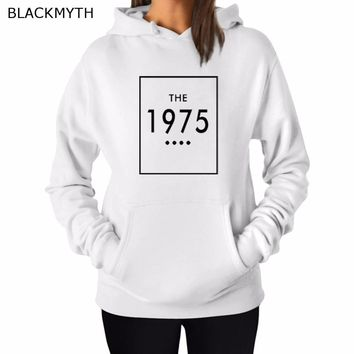 BLACKMYTH Women Ladies Sweatshirt Warm Hoodies Top Long Sleeve THE 1975 Print Blouse