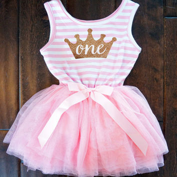 Party Formal Newborn Baptism Dress For Toddler Baby 1 year Birthday Christening Dress Imperial Crown Children Kids Vestido Cloth