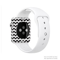 The Black & White Chevron Pattern Full-Body Skin Set for the Apple Watch