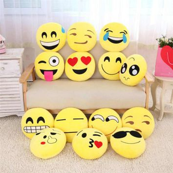 emoji pillow 30cm plush pillows QQ Smiley Emotion Soft Decorative Cushions Stuffed Plush Toy Doll Christmas Gift For Girl almofa