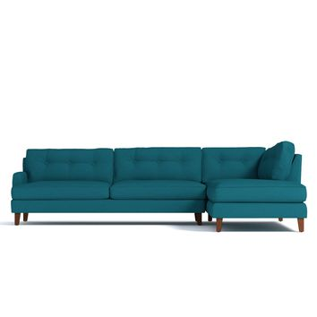 Virgil 2Pc Sectional CHOICE OF FABRICS