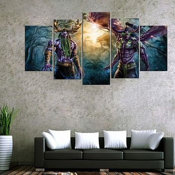 HD Print Many Styles 5 Pieces One Set Figure Bedroom Painting Wall Art Home Decoration Canvas Paintings For Living Room(Frame)
