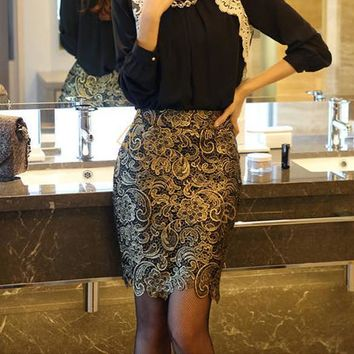 2014 new fashion korean OL style temperament slim lace pencil skirt,sexy autumn spring high waist skirts Slim Hip Skirt 10