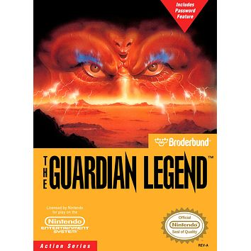 Retro The Guardian Legend Game Poster//NES Game Poster//Video Game Poster//Vintage Game Reprint