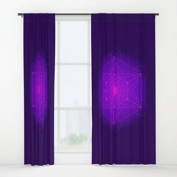 Metatron | Cube | Secret Geometry | Platonic | Matrix | Protects children Window Curtains by Azima