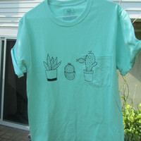 Hand Painted Cactus Shirt