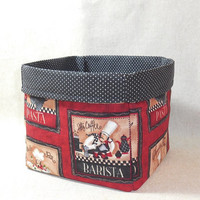 Adorable Chef Themed Fabric Basket