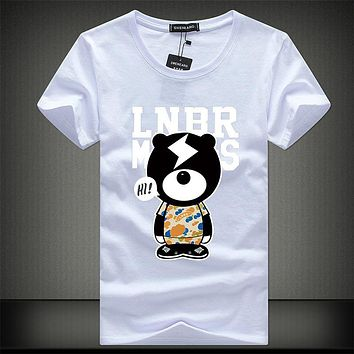 high quality men cotton Short sleeve t shirt new fashion summer printing Casual T-shirt Men's o-neck
