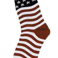 Foot Traffic Women's Novelty American Flag Socks