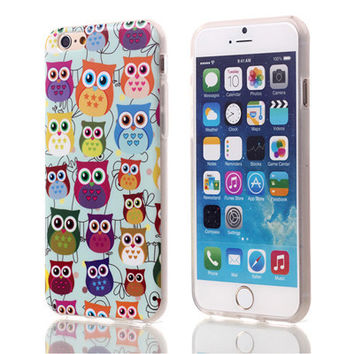 Owl Soft TPU Case For Apple iPhone 6 6S (Multi)