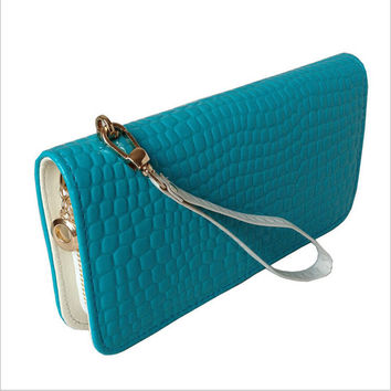 Selling  paint stone grain PU material women long purse  women wallet hand bag, purse, bright leather purse, long purse