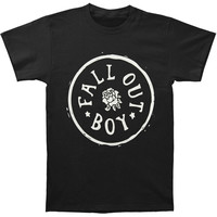 Fall Out Boy Men's  Rose Stamp T-shirt Black