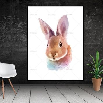 Wall art Picture animal  Watercolor Canvas Painting wall painting art canvas Picture decor poster art print on canvas no frame