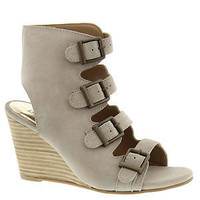 Diba True Shoes In Vited 3.25 Inch Heel Off White Buckle Wedge Sandals