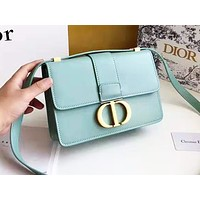DIOR fashion casual shopping bag hot seller with monochromatic letter button shoulder bag #4