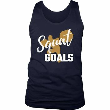 Squat Goals Men's Tank Top for the Gym