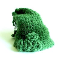 Handmade Crochet Shades of Green Hat, Very Stylish and Useful, Soft Hat, Flowered Hat, Tasseled Hat