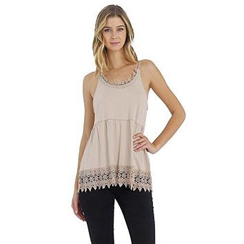 Women's Modal Lace Swing Camisole with adjustable straps