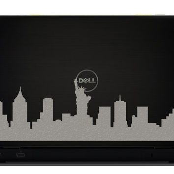 New York city Skyline Velvet Decal - Statue Of Liberty Laptop Sticker - NYC iPad Decal - New York Love Mac Decal - NYC Skyline Silhouette