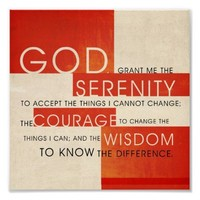 Serenity Prayer Poster from Zazzle.com